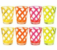 16 oz Helix Neon Color Acrylic Plastic Water Cup Drinking Glass Tumbler Set of 8