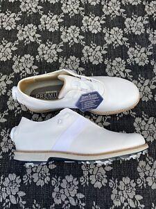 Footjoy Dryjoys Premiere Boa Golf shoe White Size 9 M Women's