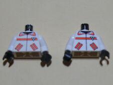 Lego 2 torses blancs / 2 white torsos from minifig set 6451 6462 6415