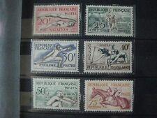 Timbres français : année 1953 YT n° 960 à 965 ** jeux olympiques