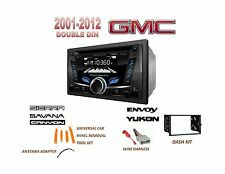 GMC SIERRA SAVANA YUKON USB AUX Bluetooth Radio Stereo Double Din Dash Kit