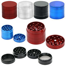 ✓ GRINDER 4 PARTS / LAYERS METAL HAND CRUSHER MILL HERB HERBAL SPICE MINCE SIEVE