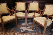 Suite de 4 fauteuils de style Restauration en acajou