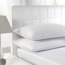 Twin Pack Polycotton Hotel Quality Hollow Fibre Non-allergenic 46x71cm Pillows