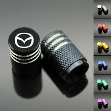 4PCS Chrome Car Wheel Tyre Tire Air Valve Caps Stem Cover With Mazda Emblem
