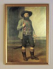 Andreas Hofer II. Tirol von Franz Defregger Büttenfaksimile K&K 7 im Goldrahmen