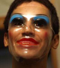 The Purge Plastic Thin Transparent Female Face Mask Halloween Fancy Dress Horror