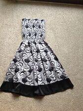 Grey & Black Patterned Dress By Minkie