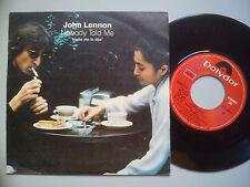 JOHN LENNON – ''NOBODY TOLD ME'' – SPANISH VINYL SINGLE.