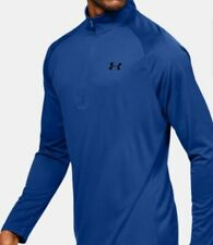 Under Armour Velocity 2.0 Men Shirt Blue Zip Front Size 2Xl