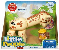 FISHER PRICE LITTLE PEOPLE GIRAFFE W/ SOUNDS & MOVEABLE CMP30  *NEW*