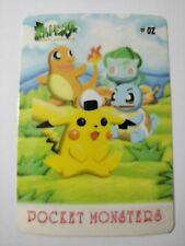 Bulbasaur Pikachu Squirtle Charmander Meowth CARDDASS Bandai Card Pokemon Single