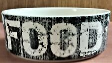 """New listing Nwt PetRage Labeled """"Food"""" Dish for Dog or Cat, Holds 14 oz., 5"""" Diam. 1.88""""T"""