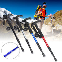 Adjustable Anti-shock Hiking Trekking Alpenstock Walking Pole Cane Stick  UK