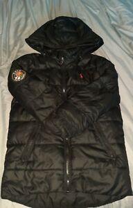 Black Ralph Lauren Padded Hooded Coat Age 7