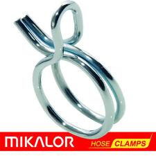 Mikalor Double Wire Hose Spring Clips   Silicone Pipe Air Fuel Band Tube Clamp