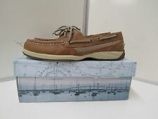 Sperry Top Sider Womens Intrepid 2-Eye Brown leather sz 8.5 M 9774811 25628