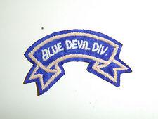 b1951 WW2 US Army Blue Devil  88th Division tab silk A6B8