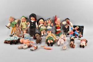 g99a15- Konvolut Puppen, ua Trachtenpuppen, Kasperle