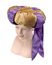 Sultan Hat. Purple/Gold. Fancy Dress Accessory