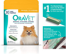 Oravet Dental Hygiene Chews for Extra Small Dogs 3.5-9 lbs containing delmopinol