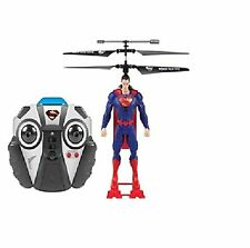 NEW World Tech Toys SUPERMAN IR RC LED Flying Figure helicopter hovercraft drone
