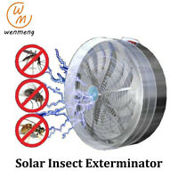 Insect Fly Bug Killer Solar Uv Light Powered Mosquito Lamp Home Garden Kill Pest