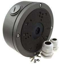 CCTV Universal Mounting Junction Box & Glands for Cameras Black/Grey Large
