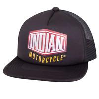INDIAN MOTORCYCLE MENS BLACK CAMO TRUCKER HAT MESH BACK LOGO ADJUSTABLE IMC OS