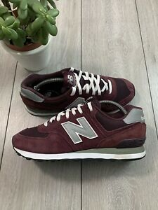 NEW BALANCE 574 ENCAP Mens Trainers Sneakers UK 8.5 EU 42.5 Burgundy [read desc]