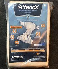 Rare Attends Extended Wear Briefs Factory Sample 1 Adult Diaper Pamper Large