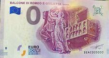 BILLET 0  EURO  BALCONE DI ROMEO E GIULETTA ITALIE    2018 NUMERO 5000 DERNIER