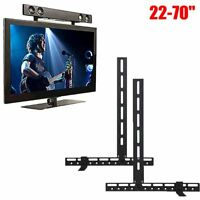 UNHO Universal Sound Bar Bracket Speaker Mount Below TV Wall Mounted Fits 22-70""