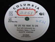 Dusty Owens: The Life You Want To Live / Hello, Operator 78 - Hillbilly