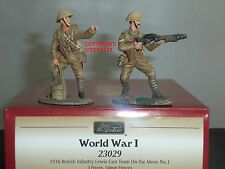 BRITAINS 23029 1916 BRITISH INFANTRY LEWIS GUN TEAM ON THE MOVE TOY SOLDIER SET