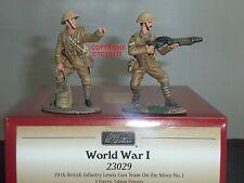 Britains 23029 1916 equipo de pistola de infantería británica Lewis en movimiento Soldado De Juguete Set