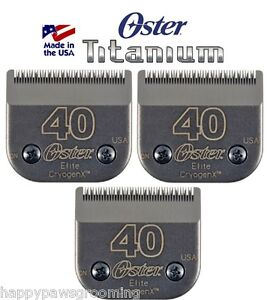 3 Oster A5 ELITE TITANIUM CryogenX 40 Guide Comb Clipper Blade*LAST 3Time LONGER