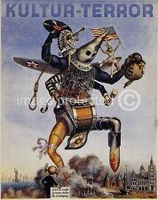 WWII Dutch Propaganda Poster Leest Storm Kultur Terror 18x24