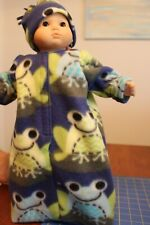 HAT fits Bitty Baby /& Twins RED DOT CAPRIS with PEEPING FROG RUFFLED GREEN TOP