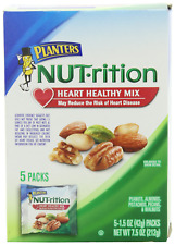 NUTrition Heart Healthy Mixed Nuts 7.5 oz Bags, Pack of 7