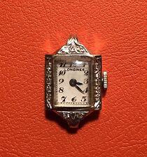 Vintage Longines 14K Diamond Ladies Watch - Art Deco