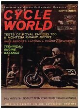 CYCLE WORLD SEPTEMBER 1962 VOL 1 NO 9 SEE CONTENTS IN SECOND PHOTO