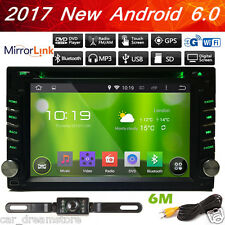 "Backup Camera+Double 2Din 6.2"" Android 6.0 GPS WIFI Car Stereo DVD Player Radio"