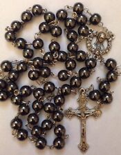 Vintage Rosary Catholic prayer beads Crucifix From ITALY