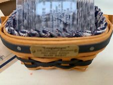 Longaberger Jw Collection Miniature 2001-2002 Berry Basket 2 Liners