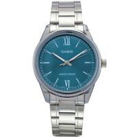 Reloj Analogico CASIO MTP-V005D-3B - Correa De Acero - Reloj De Cuarzo Original