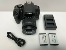 Canon - EOS Rebel T7i DSLR Video Camera with EF-S 18-55mm IS STM Lens - Black