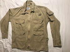 Vintage Orvis Field Jacket Shirt Hunting FishIng Hiking Khaki 100% Cotton Mens L
