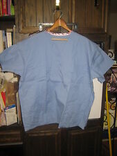 Encompass V-Neck Unisex size XL Reversible Surgical Scrub Top Cecil Blue