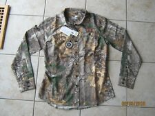 New Womens Under Armour Button Front Performance Field Camo Shirt 2XL XX LARGE